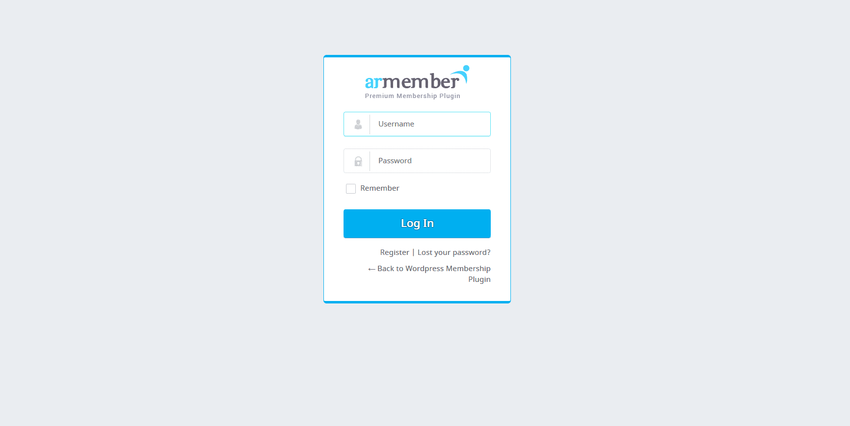 Armember login pages