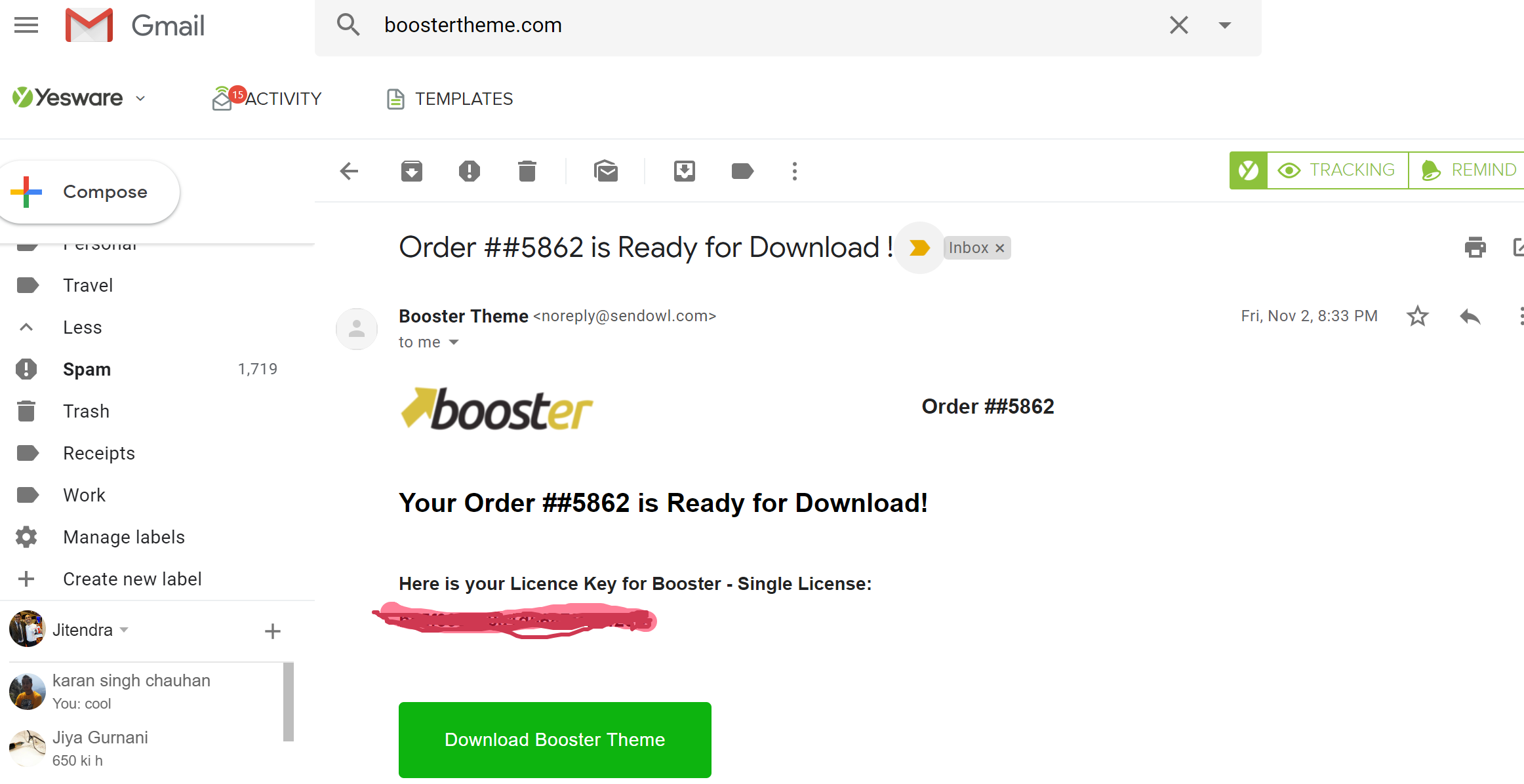 Booster Theme Discount Coupon