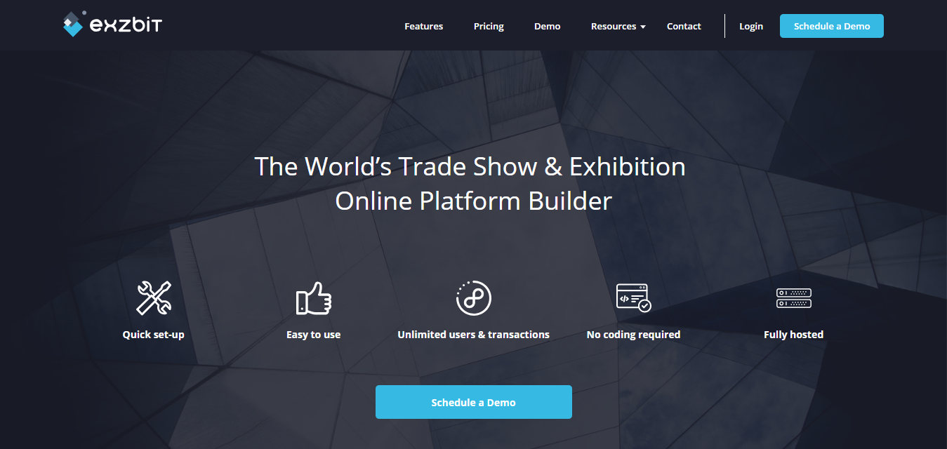 Create trade shows and exhibitions- exzbit