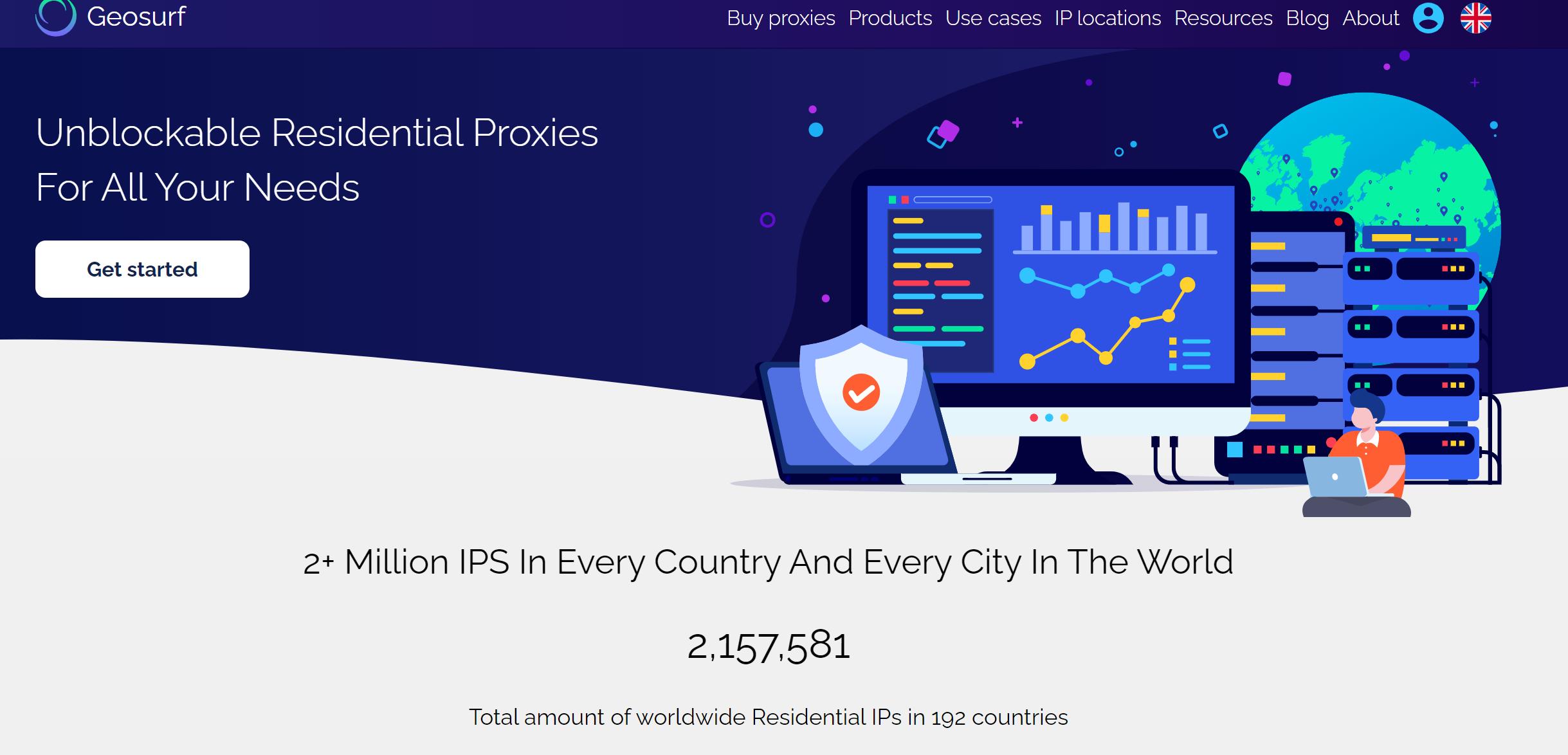 Geosurf proxies network