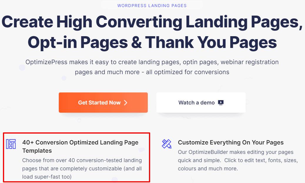 OptimizePress Landing-Pages-Page Builder