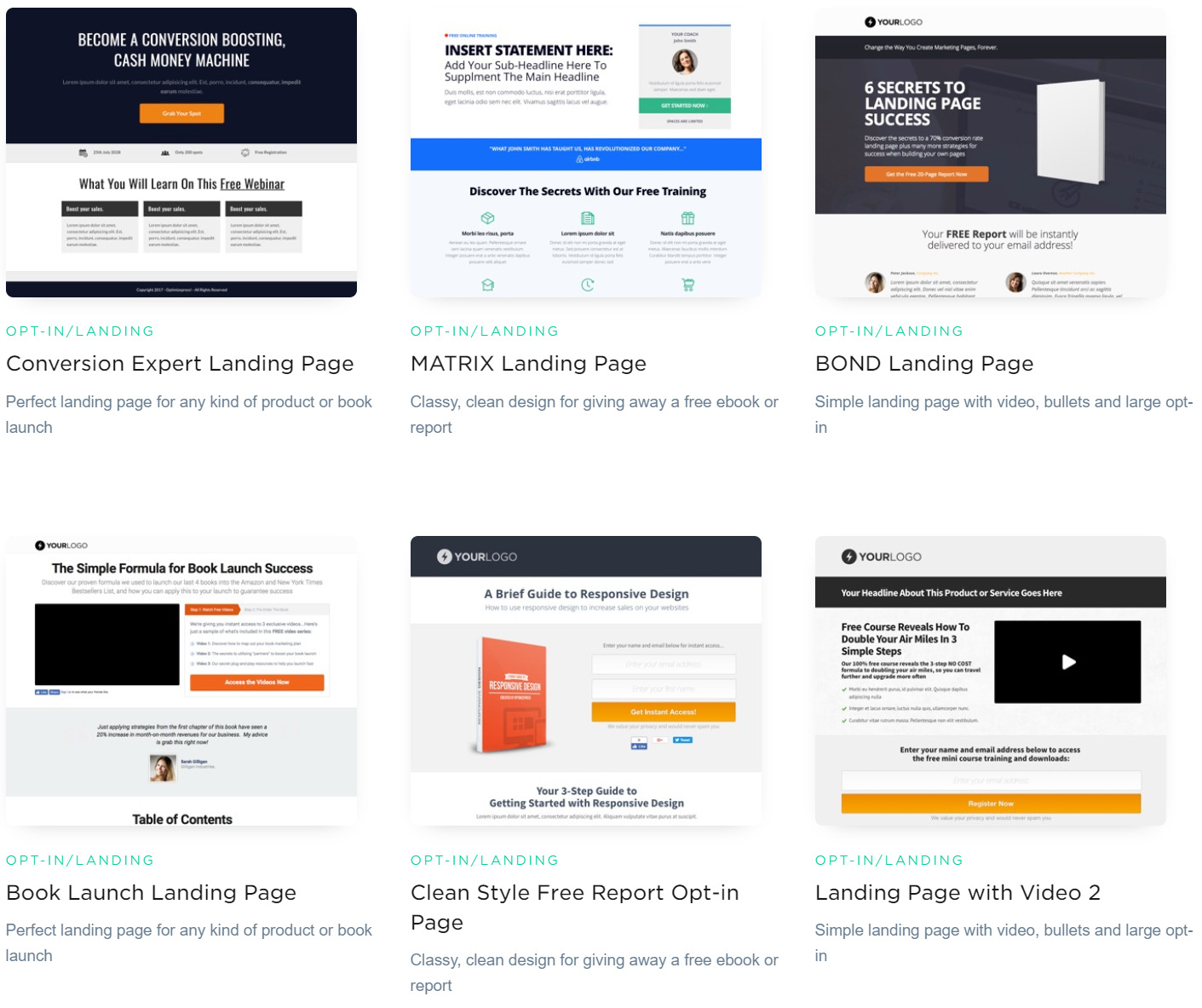 OptimizePress Review- Landing Page Templates