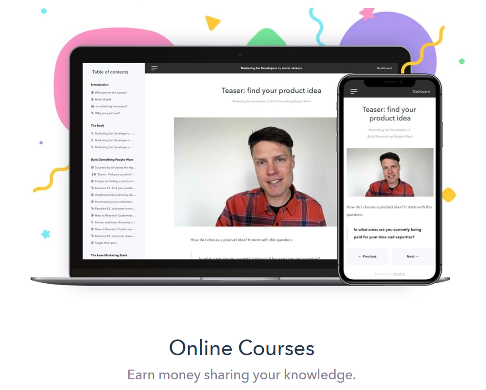Podia Review- Online Courses