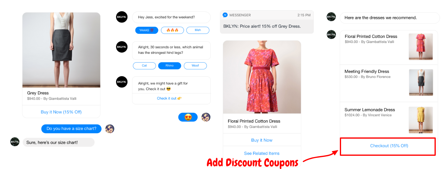 ShopMessage Review With Discount Coupon- Add Discount Buttons