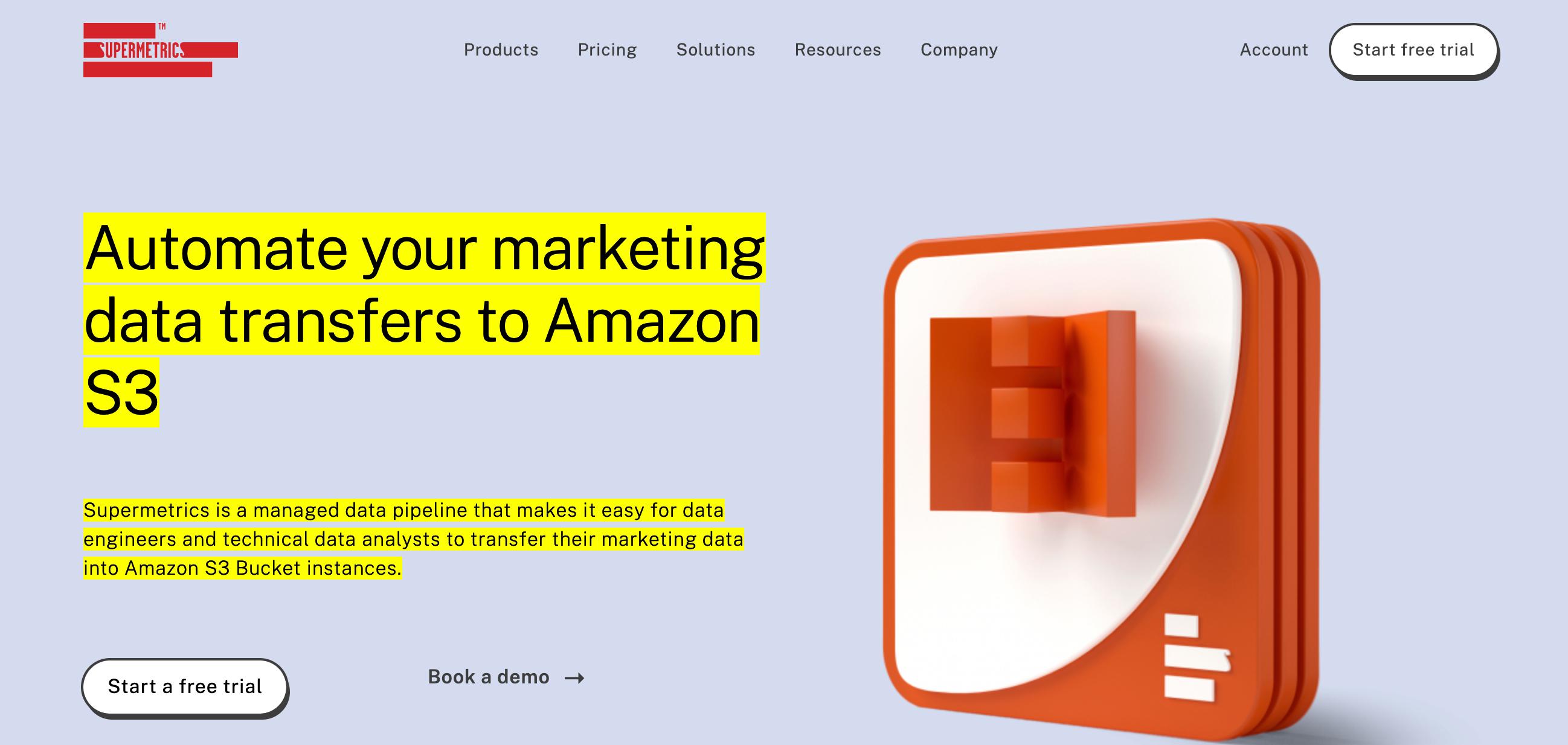 Supermetrics Amazon S3