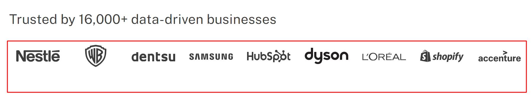 Supermetrics trusted brands