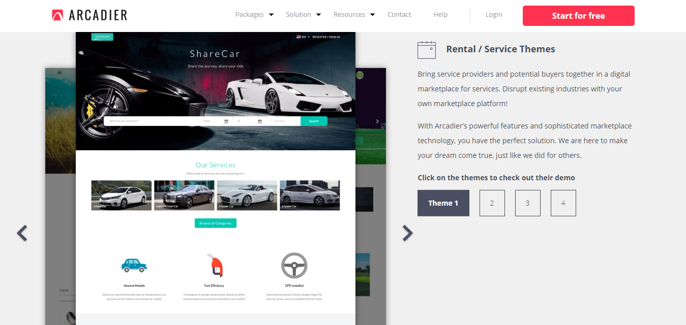 themes for Ecommerce marketplace