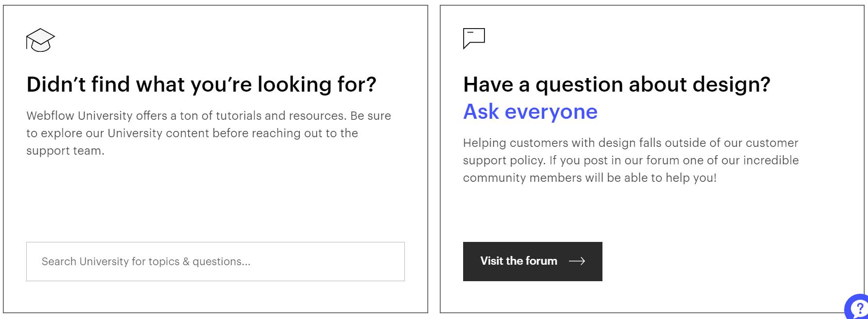 webflow customer support