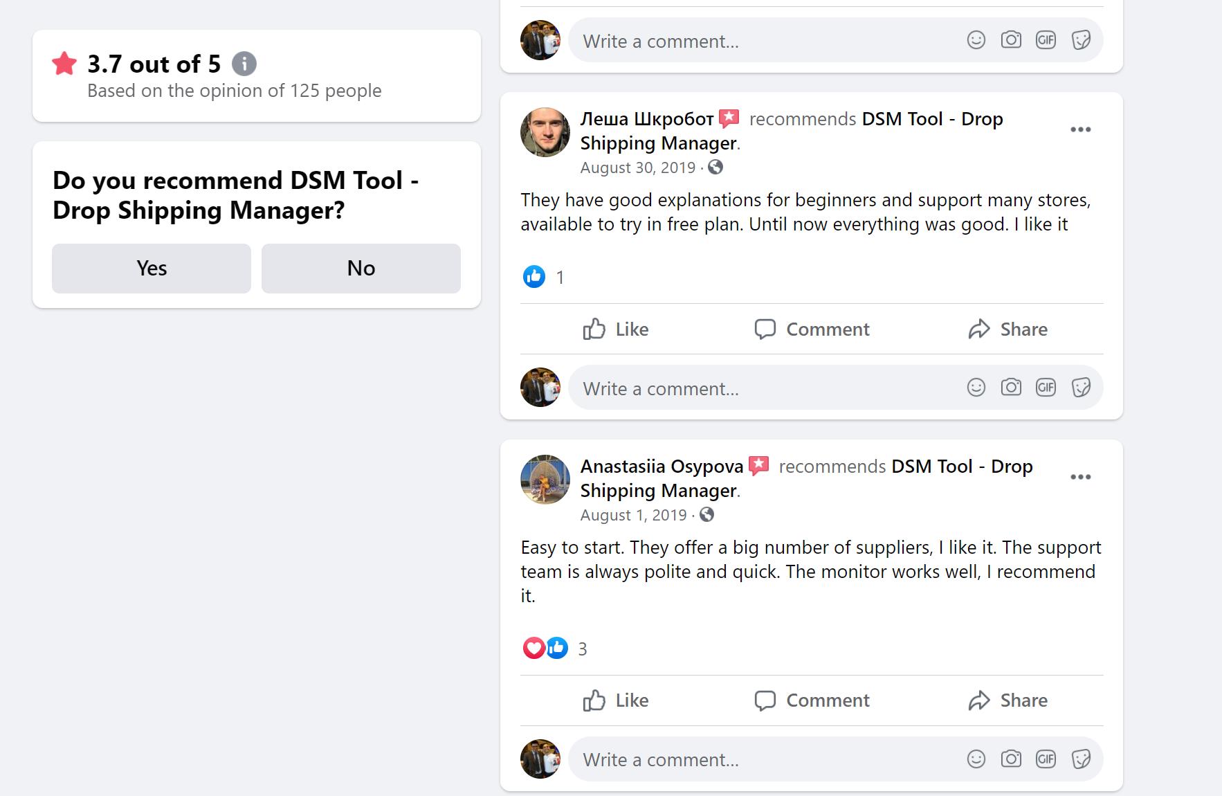 DSM tool dropshipping tool reviews
