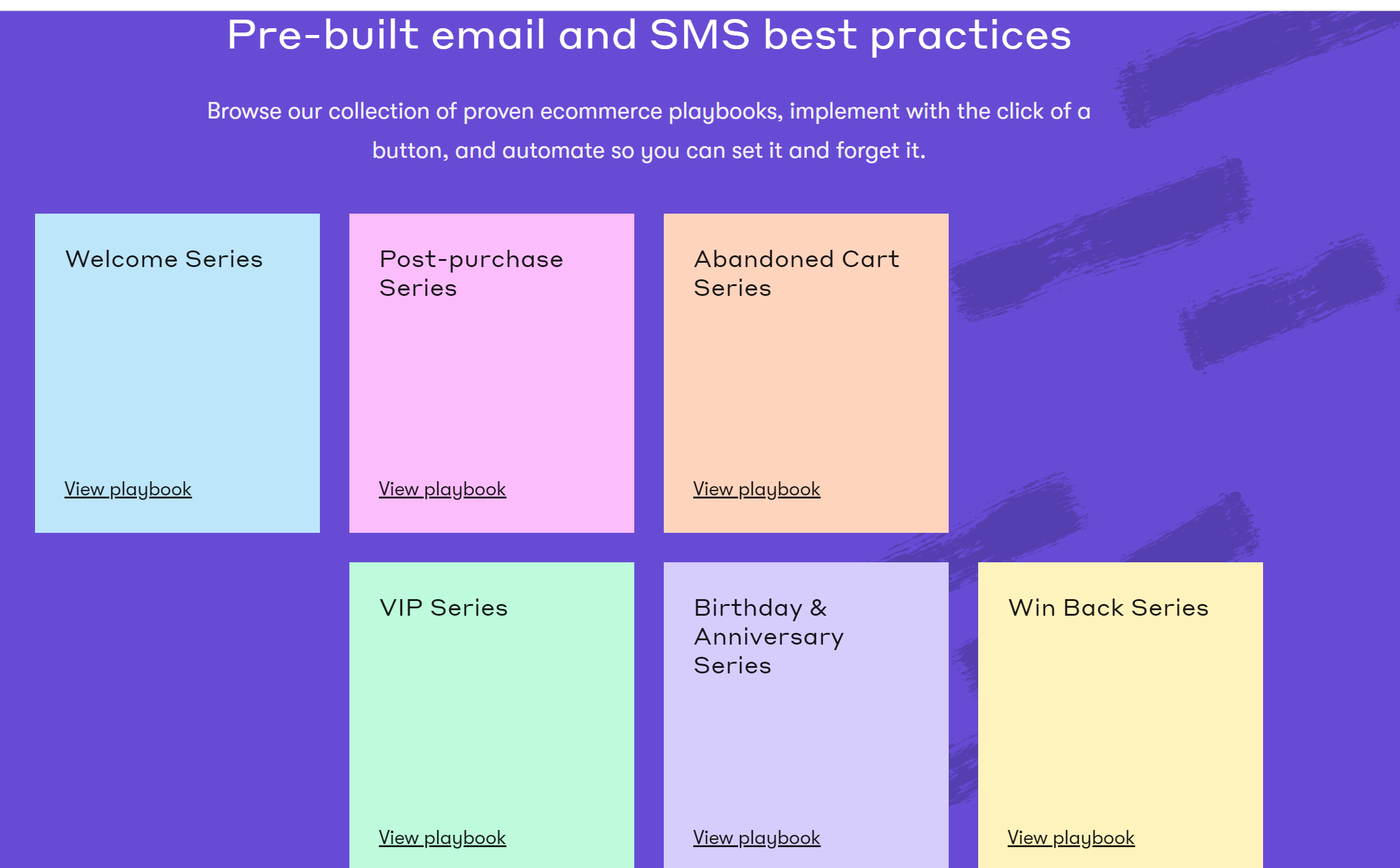 Drip prebuilt email and SMS