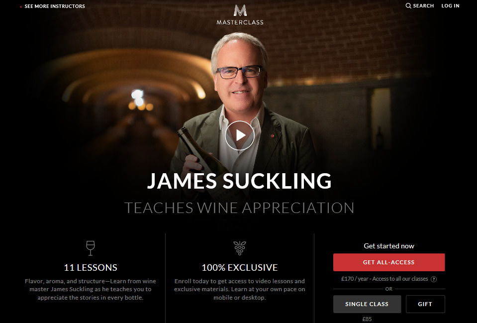 JamesSuckling masterclass free trial