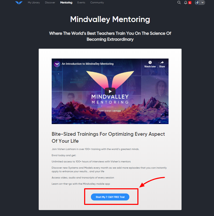Mindvalley Discount coupon Code- Free Trial Offer