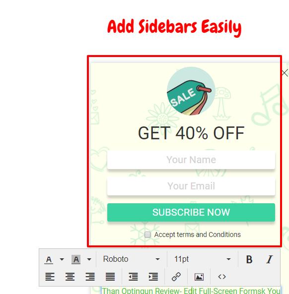 Optingun Review- Add Sidebars