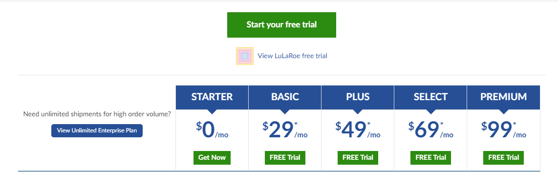 Pricing for SHippingEasy