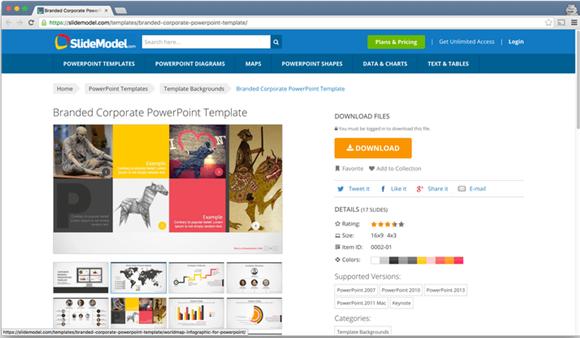 SlideModel template for Powerpoint