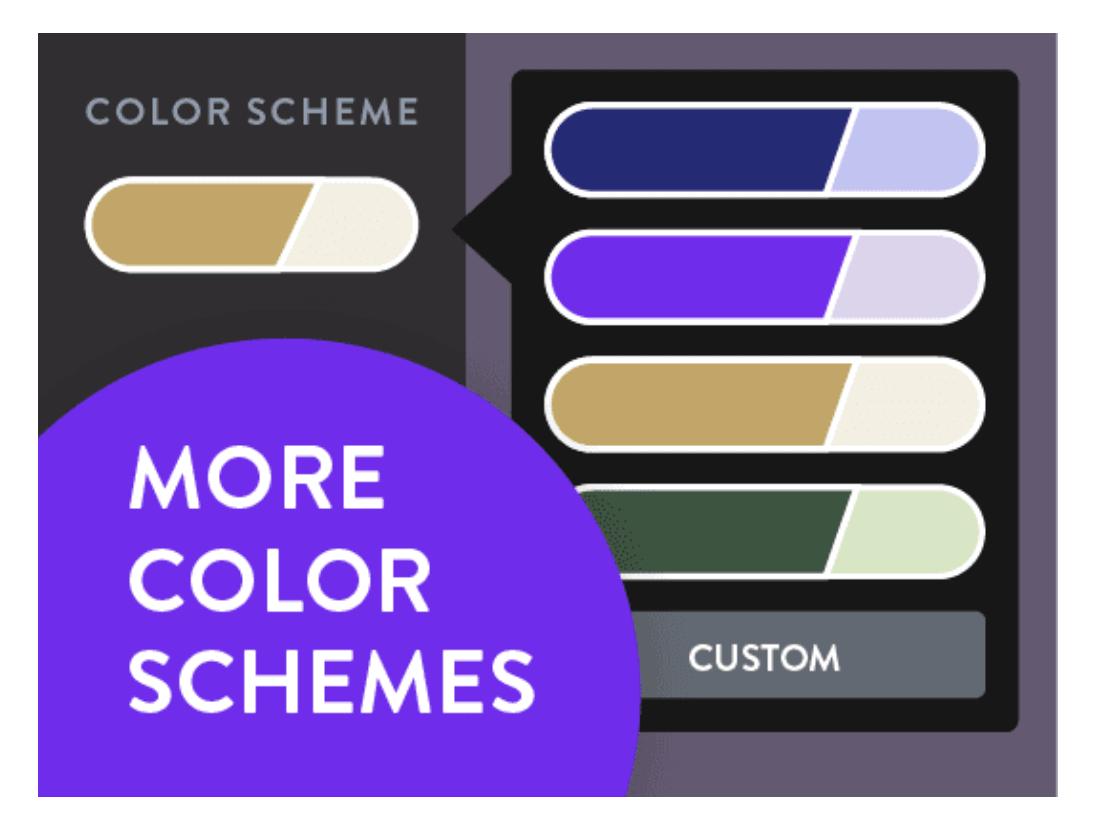 Strikingly color schemes