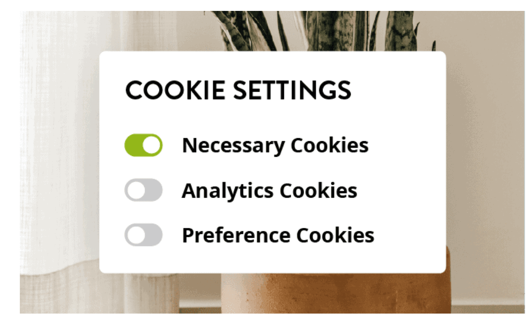 Strikingly cookies setting