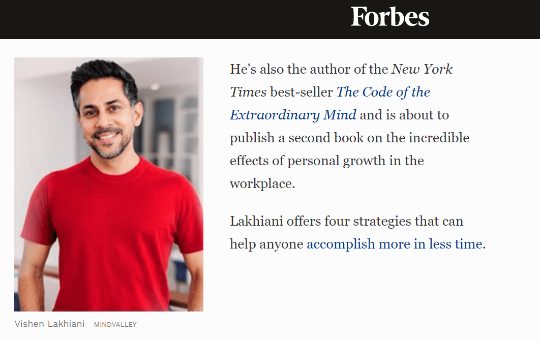 Vishen lakhani featured in forbes