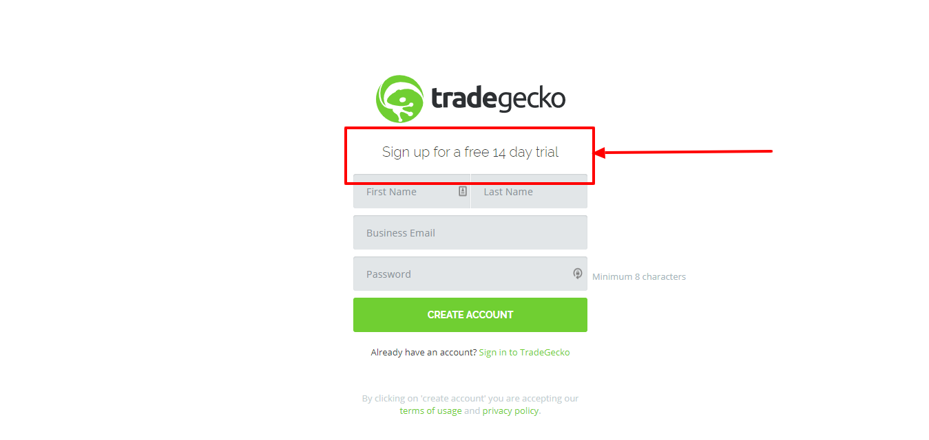 coupon for TradeGecko