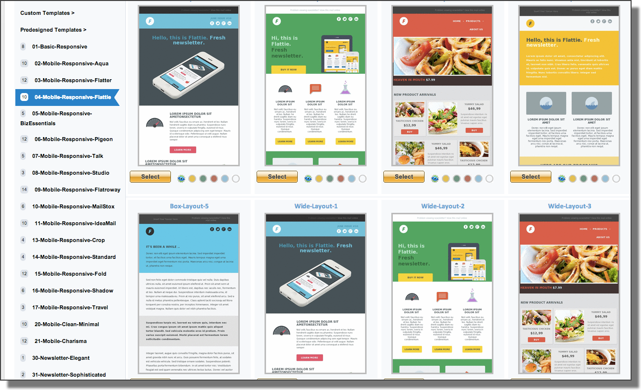 pinpointe templates with coupon codes