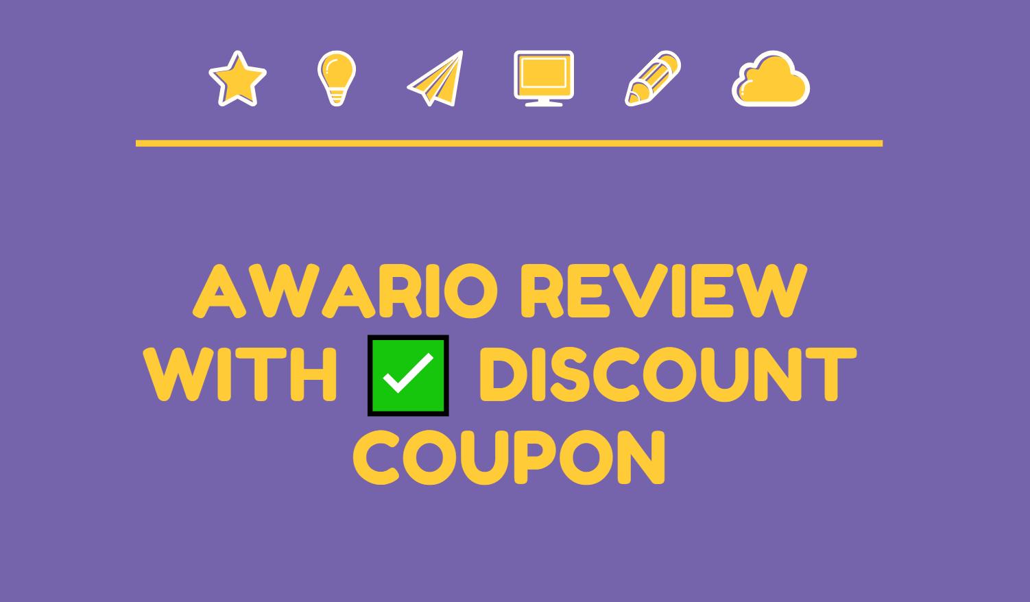 Awario discount coupons Awario reviews