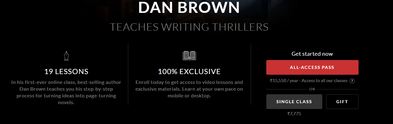 Dan Brown Pricing
