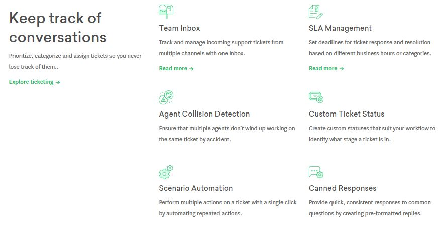 FreshDesk review feature