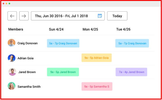 Hubstaff Review- Team Scheduling