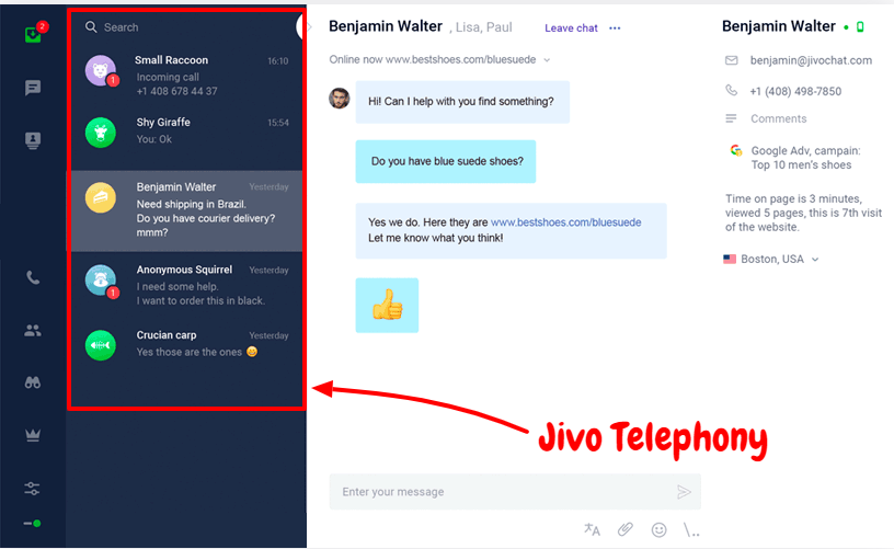 JivoChat Review- Jivo Telephony