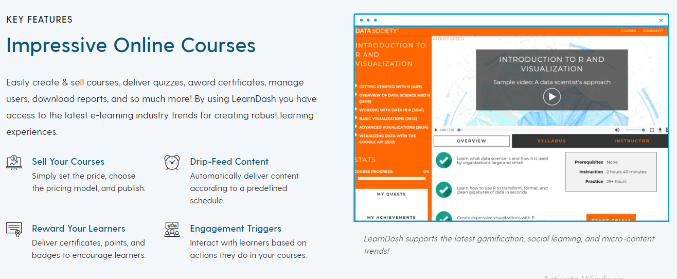 Learndash Review Feature