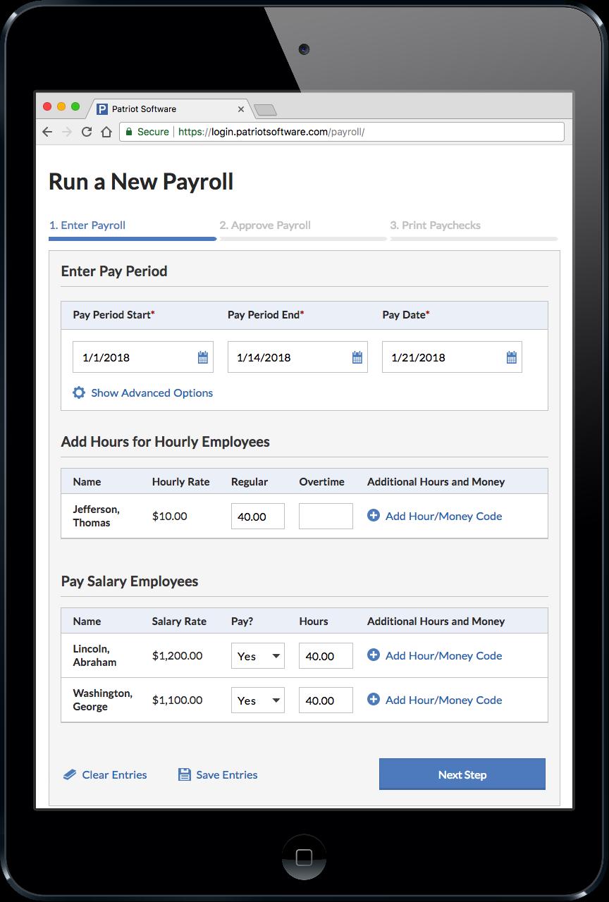 Patriot Payroll System