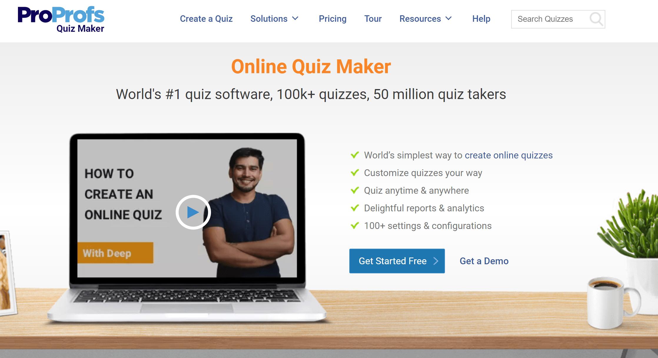 Proprofs Quiz Maker