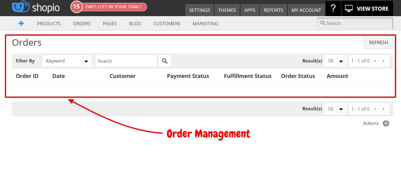 Shopio Review- Order Management