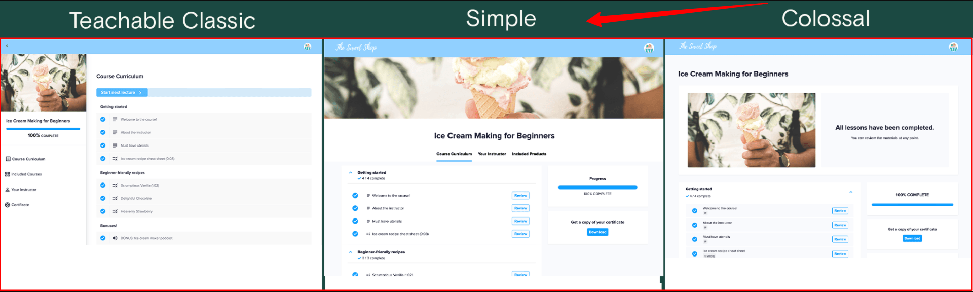 Teachable customization
