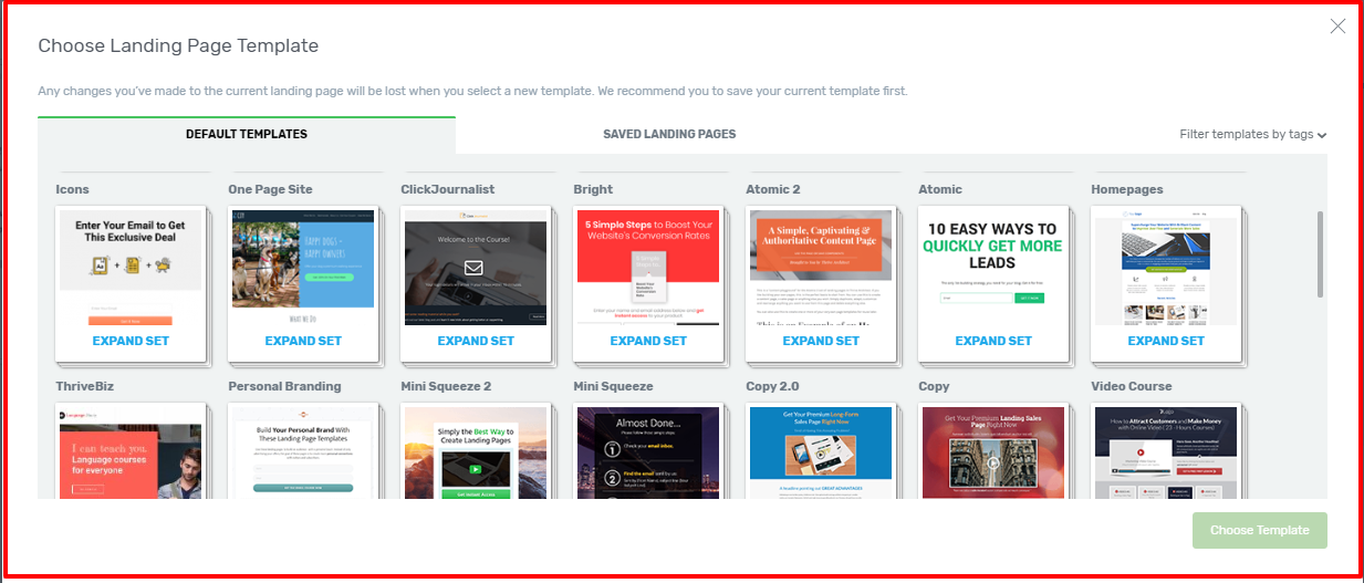Thrive Architect Review- Landing Page Templates