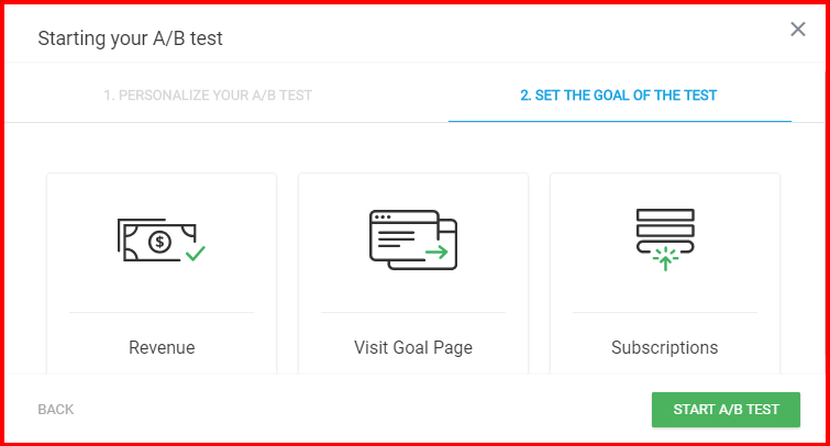 Thrive Optimize Review- Select A Conversion Goal