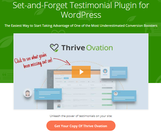 Thrive Ovation Review- The All in one Testimonial Management Plugin