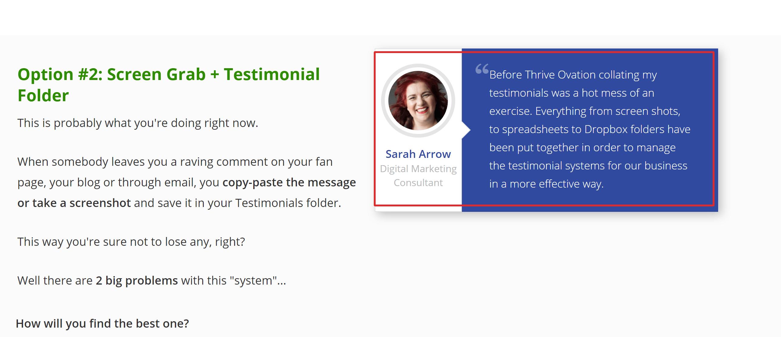 Thrive ovation testimonials