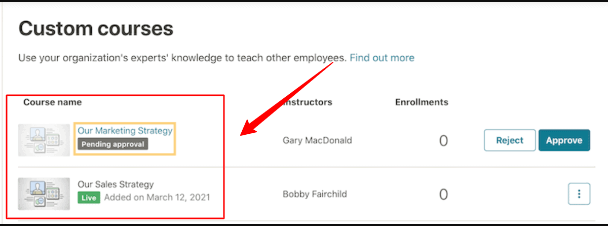 Udemy course approval