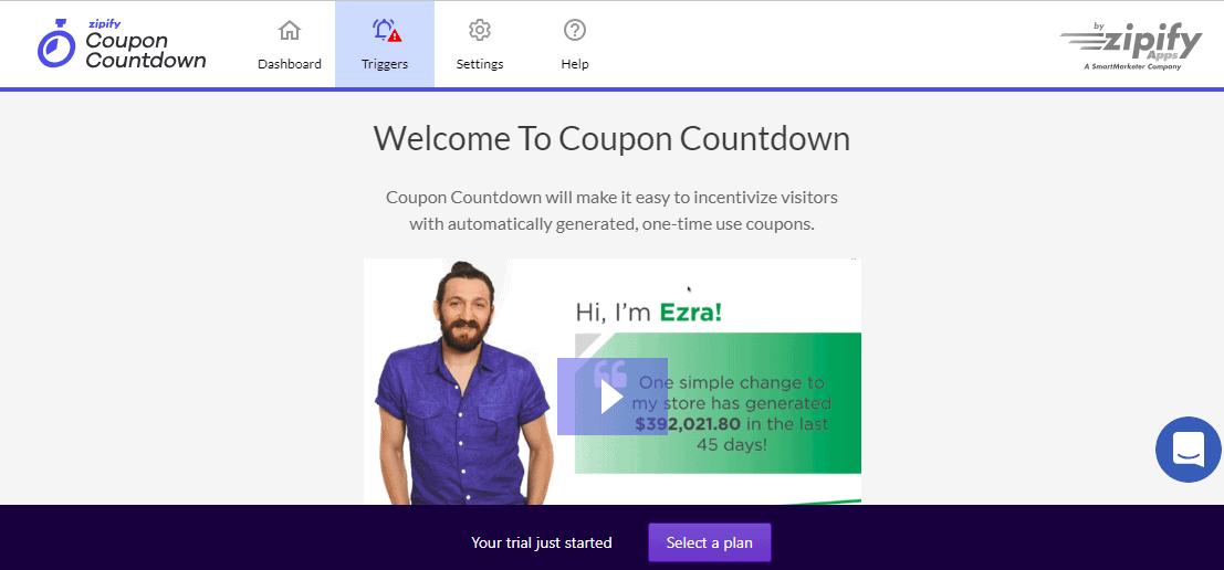 Zipify coupon countdown