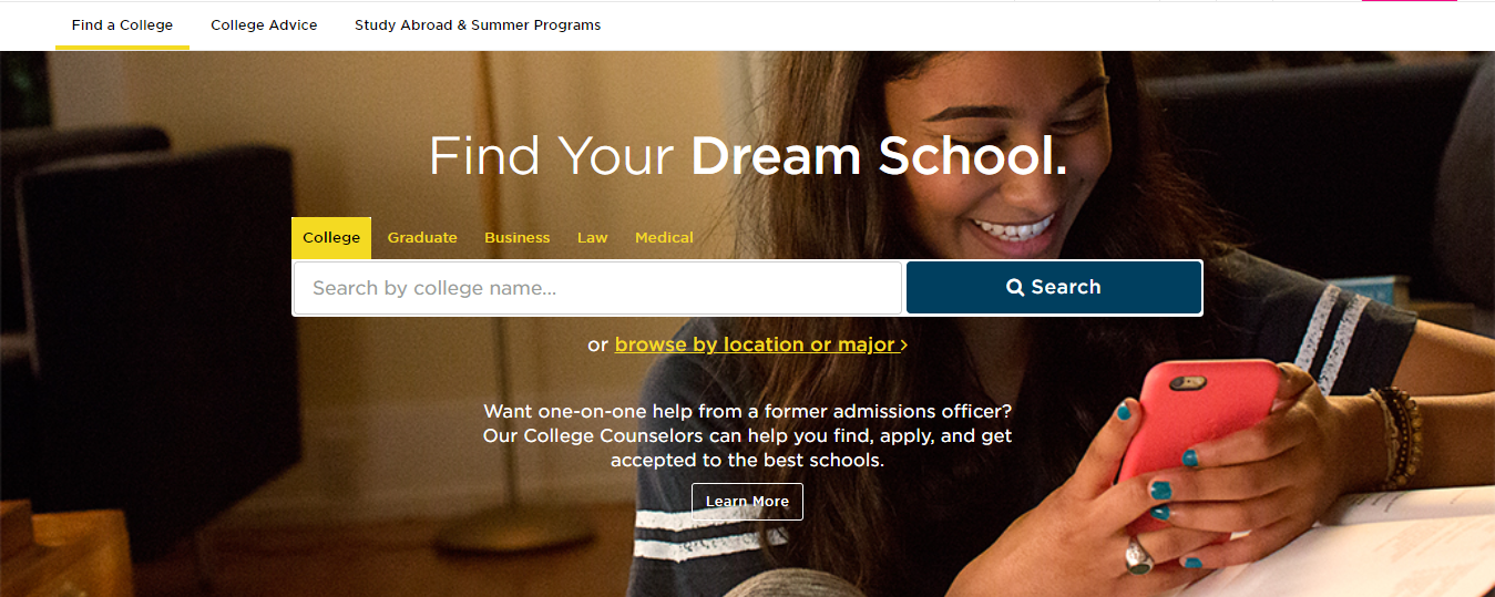 college admissions guide The Princeton review