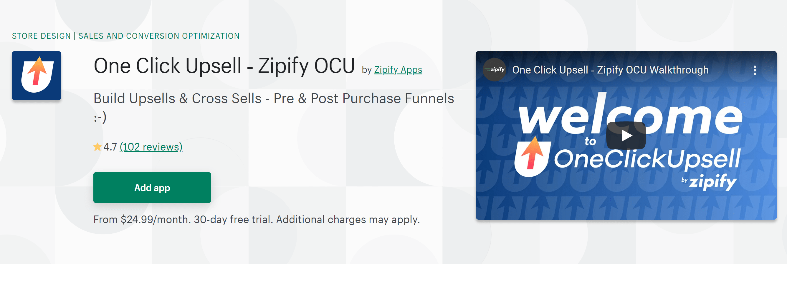 one clickupsell Zipify reviews