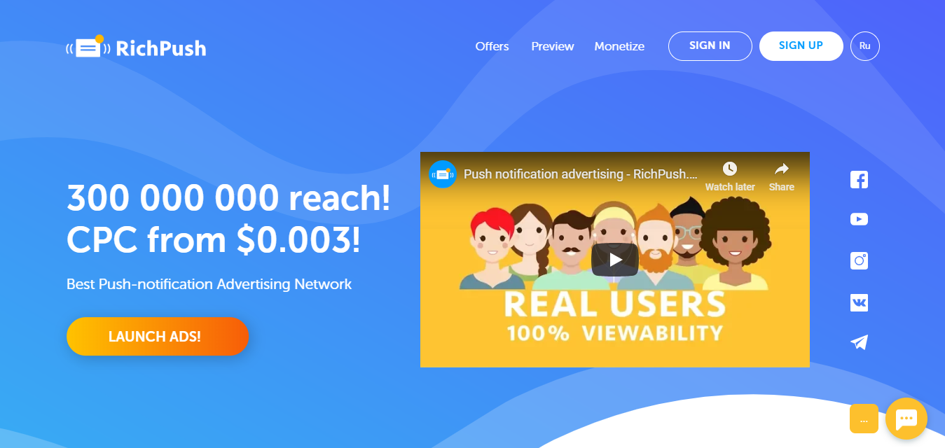 richpush ad network for push notifications