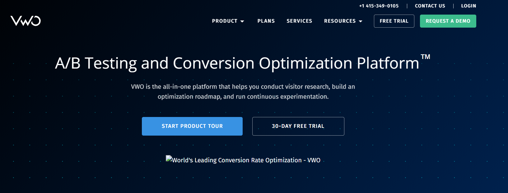 Best Conversion Rate Optimization Tools- VWO
