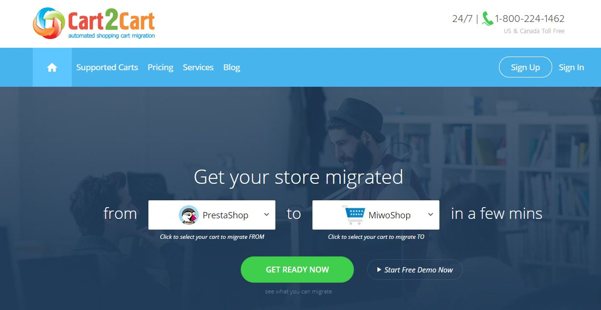Cart2Cart -home-page