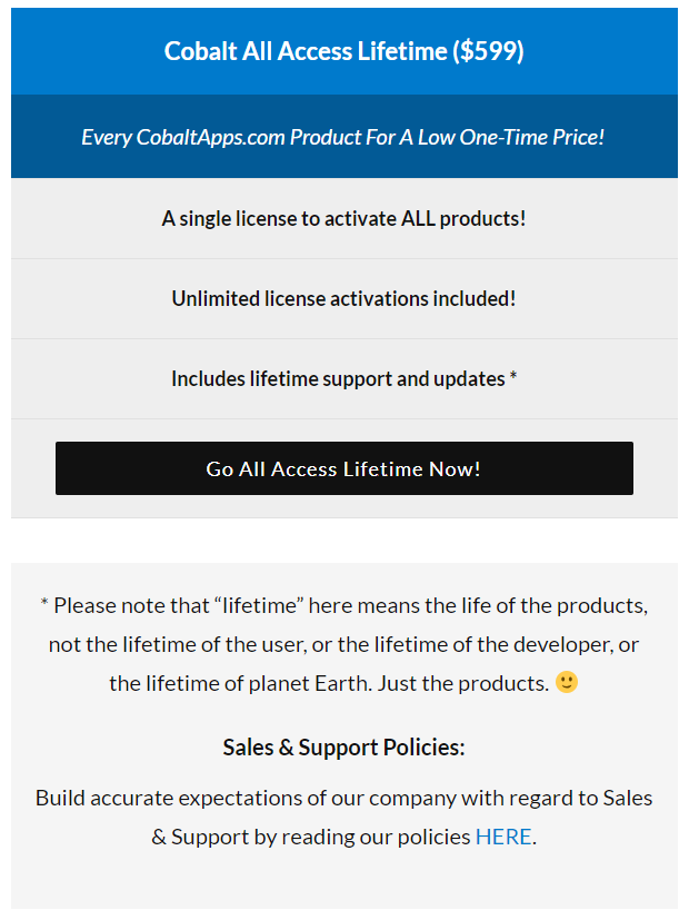 Cobalt Apps Review- All Access Lifetime Pricing