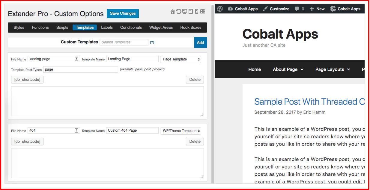 Cobalt Apps Review- Custom Templates