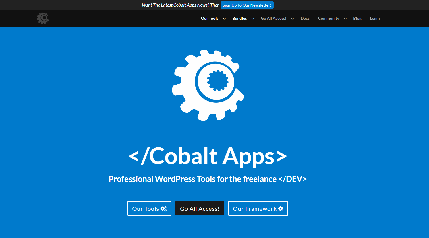 Cobalt Apps Review- Premium Tools For The Freelance WordPress Developer
