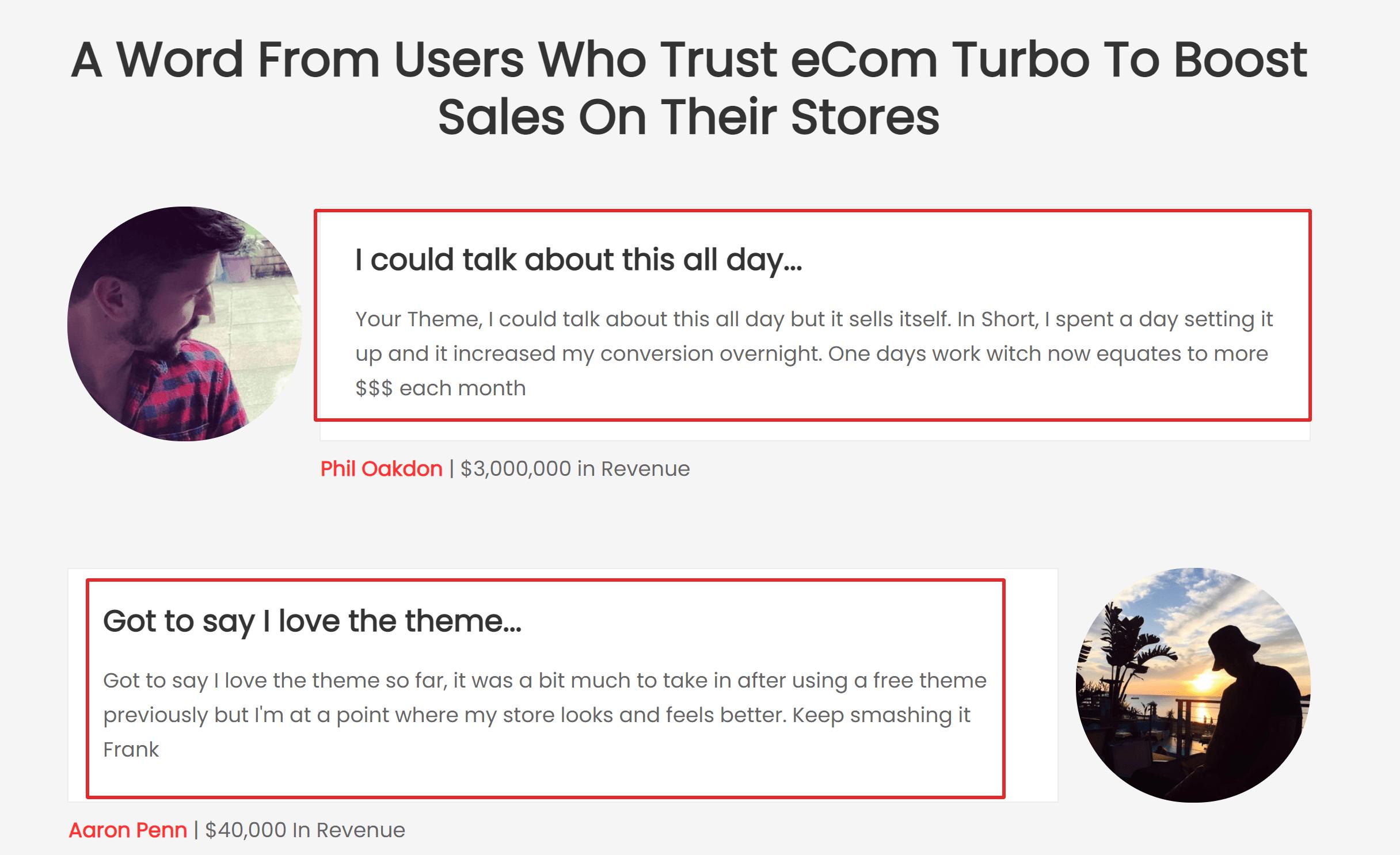 Ecom Turbo Testimonials