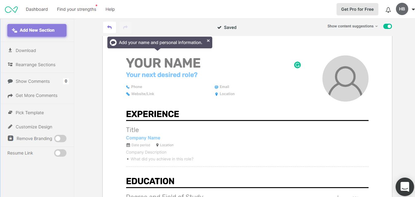 Enhancv coupon codes - A resume builder